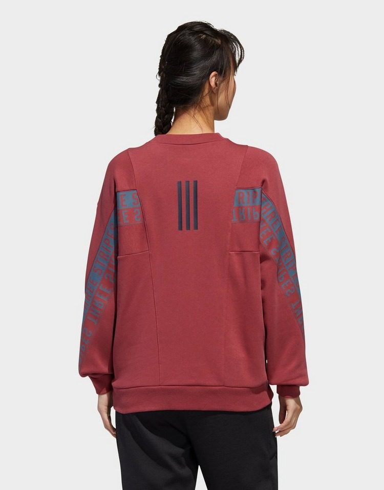 adidas Performance 3-Stripes Wording Crew Sweatshirt