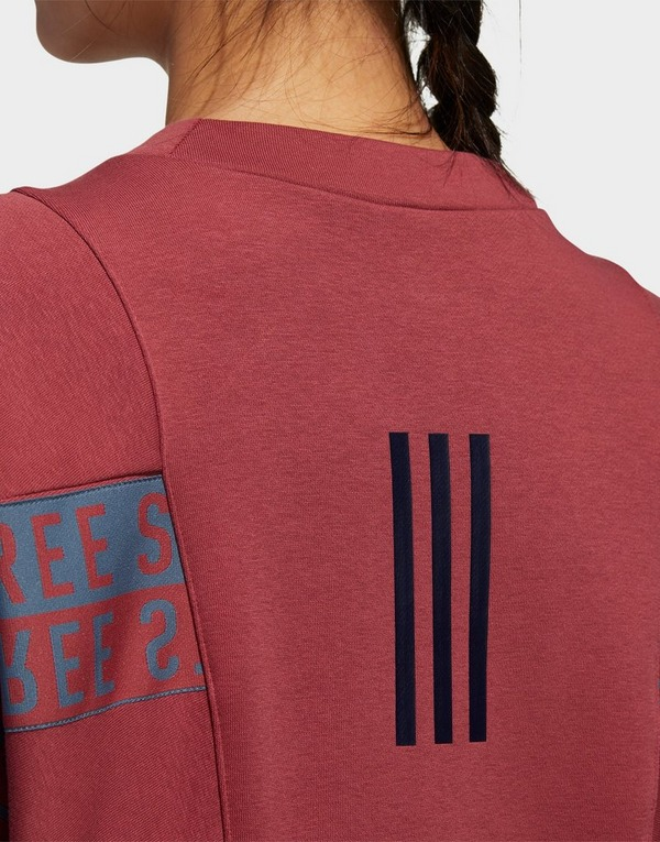 adidas Performance 3-Stripes Wording Crew Sweatshirt