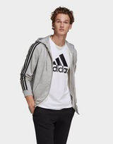 adidas Essentials French Terry 3-Stripes Full-Zip Hoodie