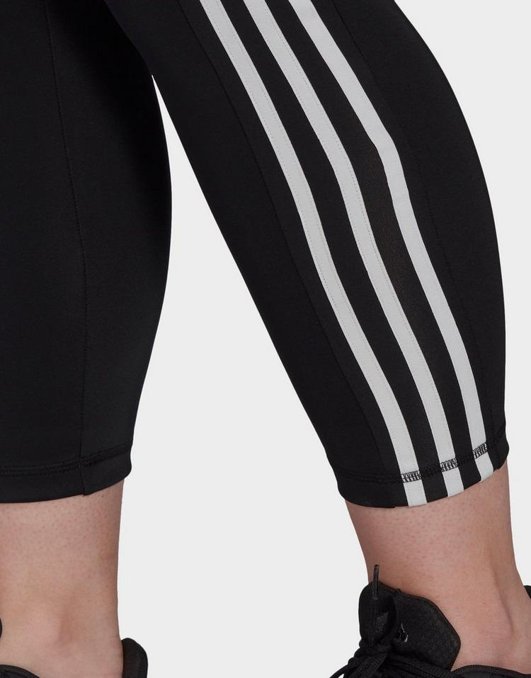 adidas Designed To Move High-Rise 3-Stripes 7/8 Sport Tights (Plus Size)