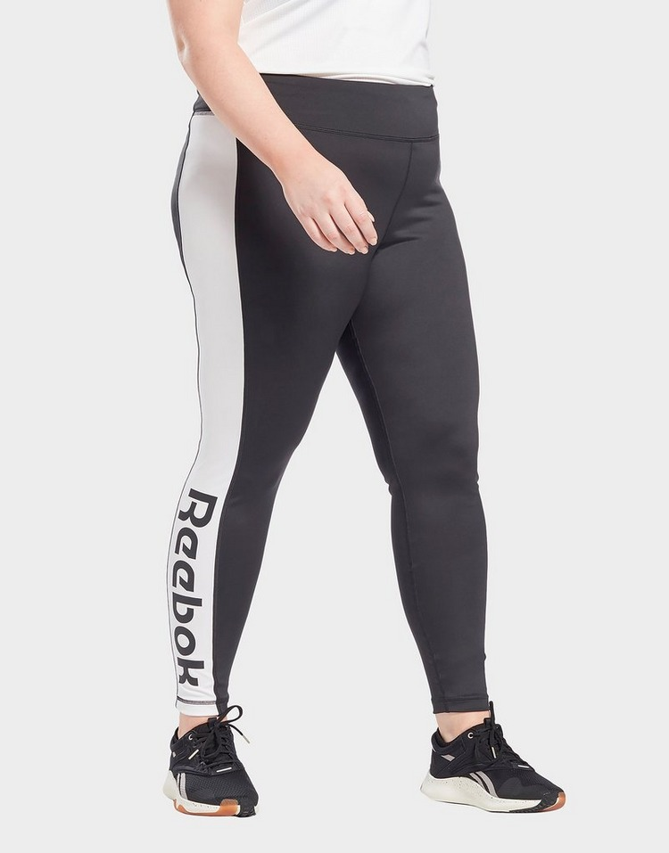 Reebok linear logo leggings (plus size)