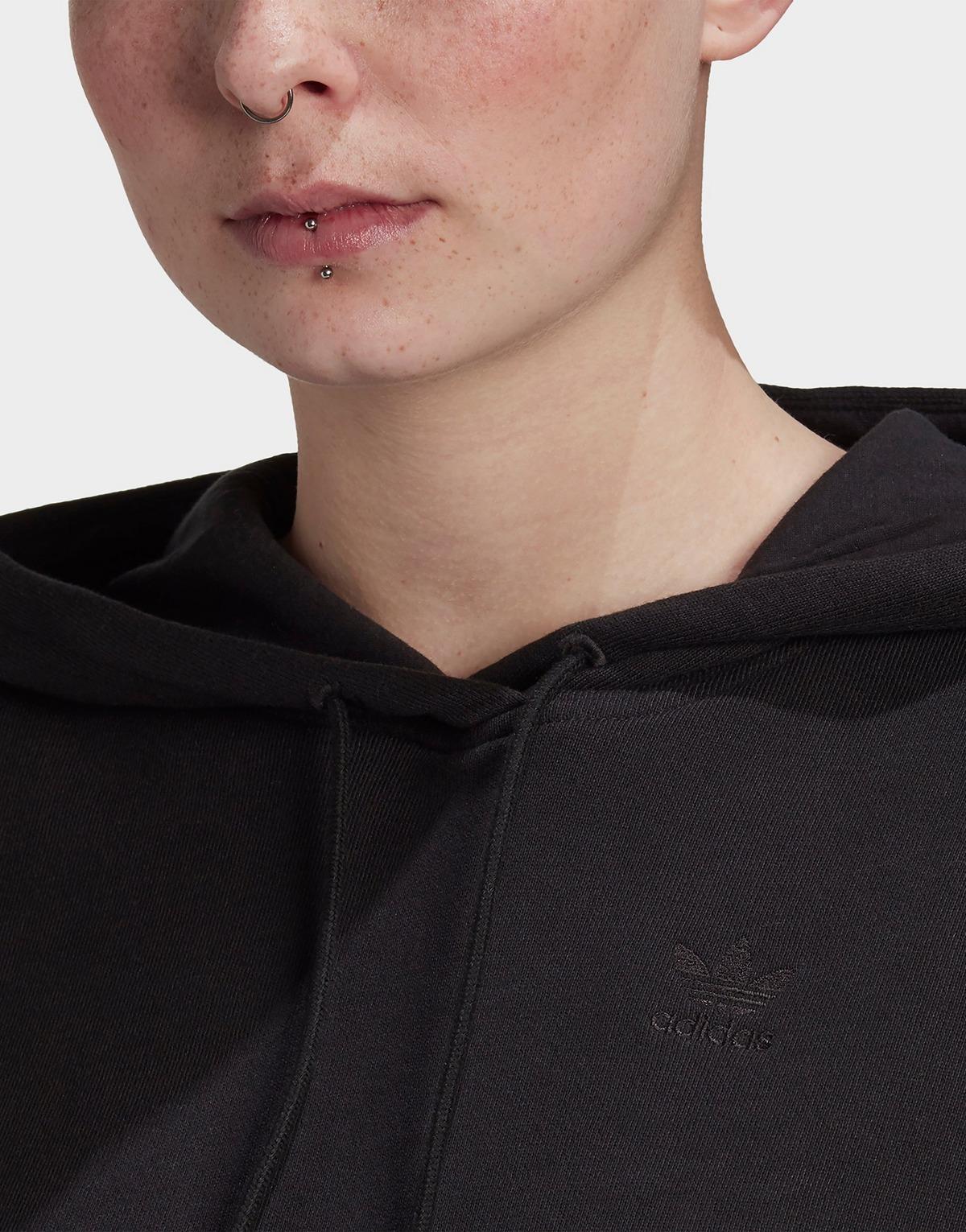 Adidas Originals Adicolor 3d Trefoil Cropped Hoodie