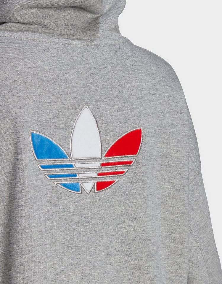 adidas Originals Adicolor Tricolor Trefoil Crop Hoodie