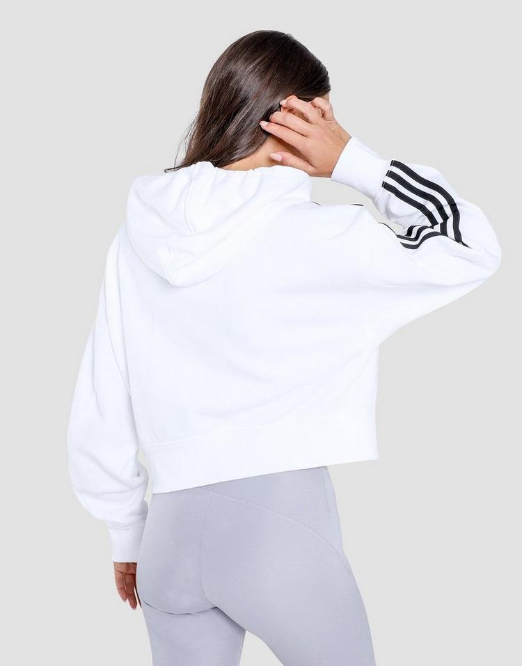 adidas Originals 3 Stripe Crop Hoodie