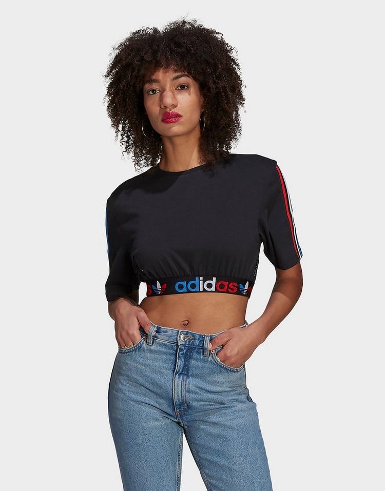 adidas Originals Adicolor Primeblue Tricolor Crop Top
