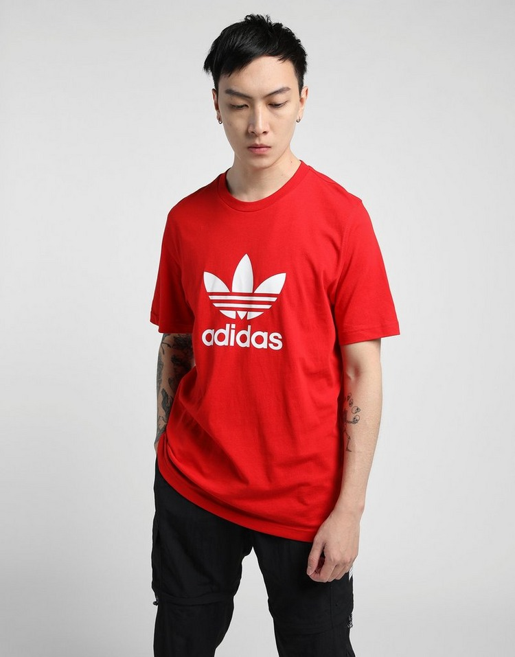adidas เสื้อแขนสั้น TREFOIL T-SHIRT SCARLET