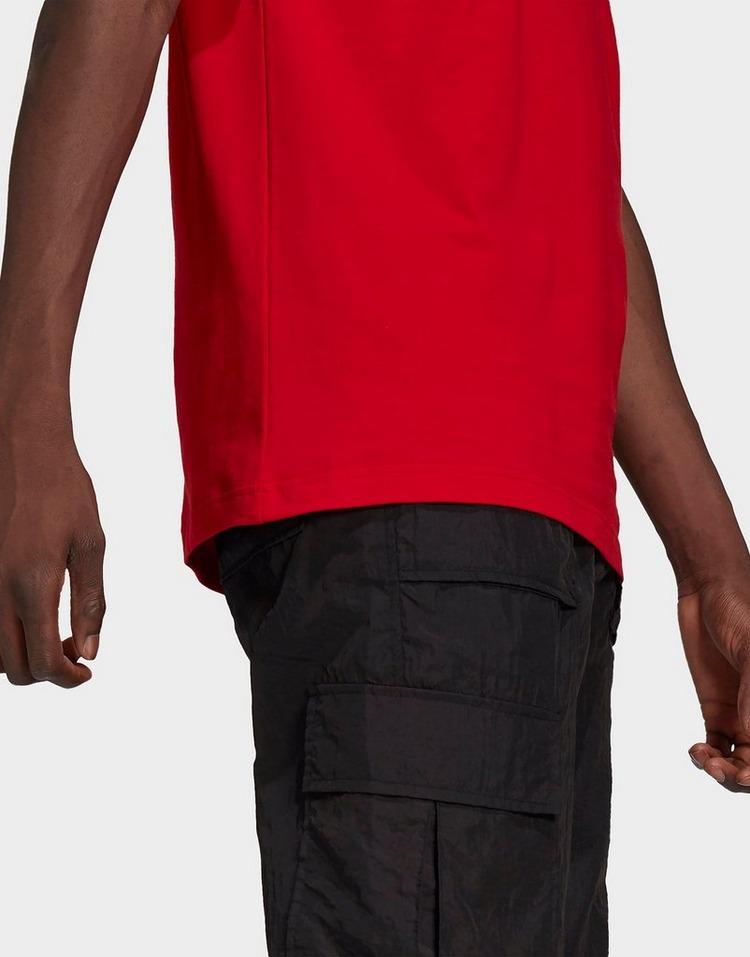 adidas Originals เสื้อแขนสั้น 3-STRIPES TEE SCARLET