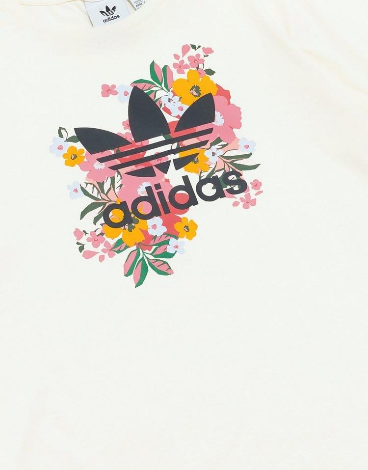 adidas เสื้อแขนสั้น Floral Trefoil