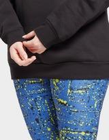 Reebok reebok identity logo fleece crew sweatshirt (plus size)