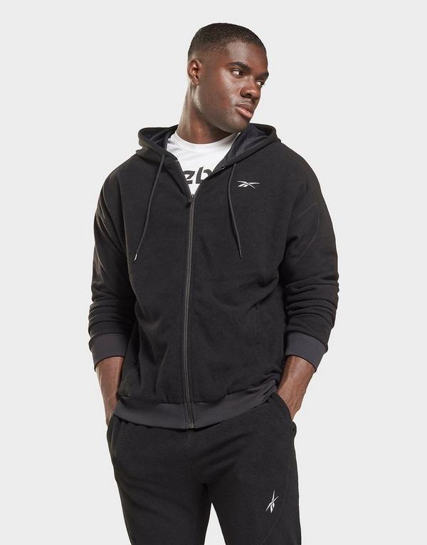 Reebok workout ready fleece zip-up hoodie