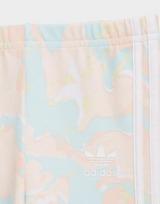 adidas Originals Marble Print Tee Dress and Tights Set