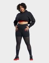 Reebok cardi b mesh high-rise leggings (plus size)
