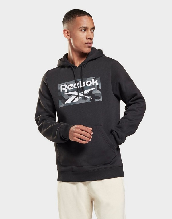 Reebok camo allover print pullover hoodie