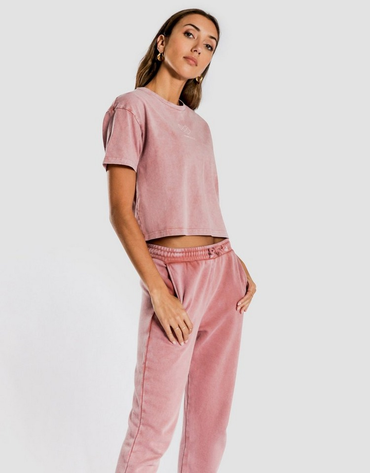 Pink Soda Sport Bermuda Washed Crop T-Shirt