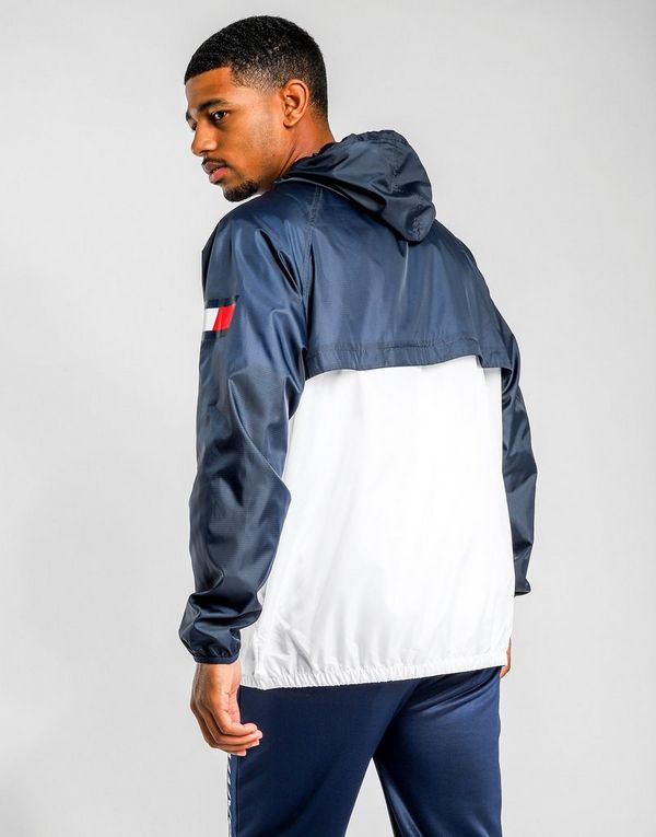 81de7359b TOMMY HILFIGER Colour-Blocked Windbreaker | JD Sports
