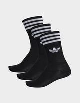 adidas Originals ถุงเท้าสีดำรุ่น Crew Socks