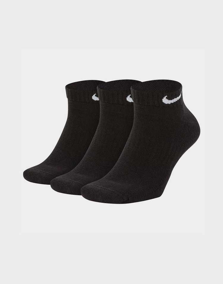 Nike ชุดถุงเท้าสีดำสามคู่รุ่น Low Socks