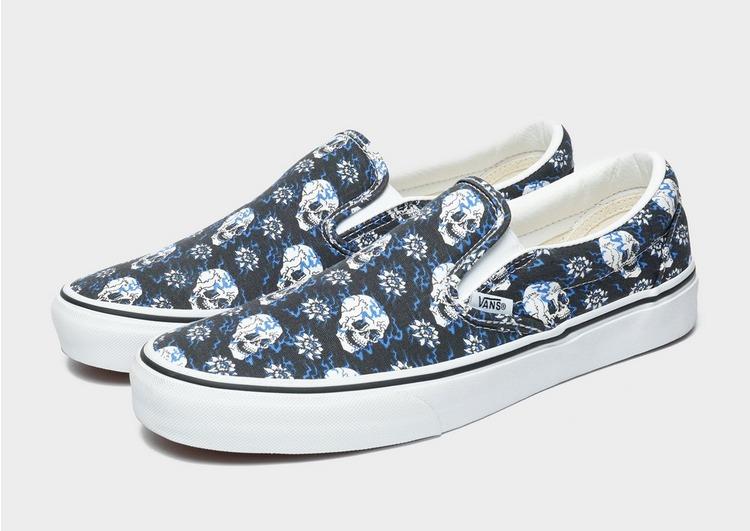 Vans รองเท้าผู้ชาย CLASSIC SLIP-ON (FLASH SKULLS)
