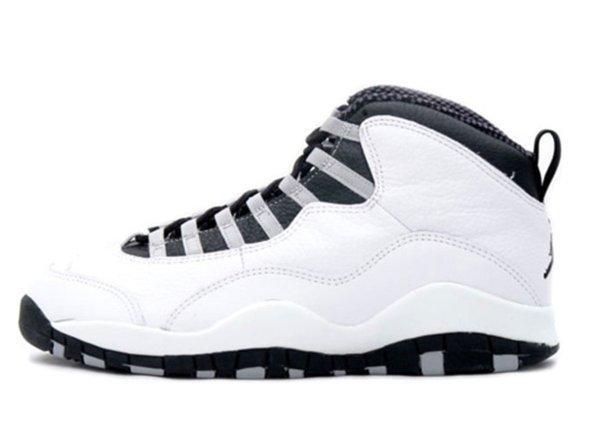 Air Jordan X White / Black – Light Steel Grey