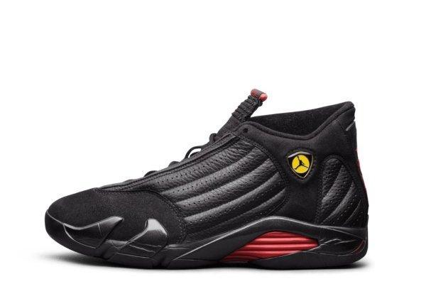 Air Jordan XIV Black / Black / Varsity Red
