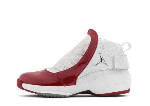 Air Jordan XIX White / Varsity Red – Metallic Silver