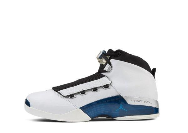 Air Jordan XVII White / College Blue - Black