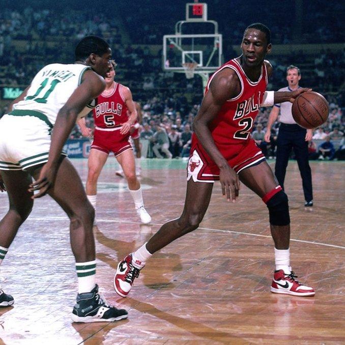 Air Jordan I on feet