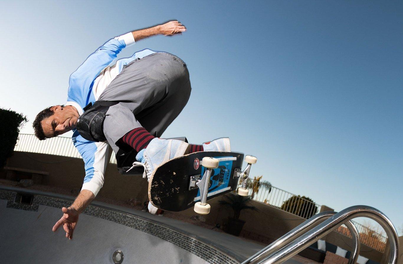 skater con Nike Blazer