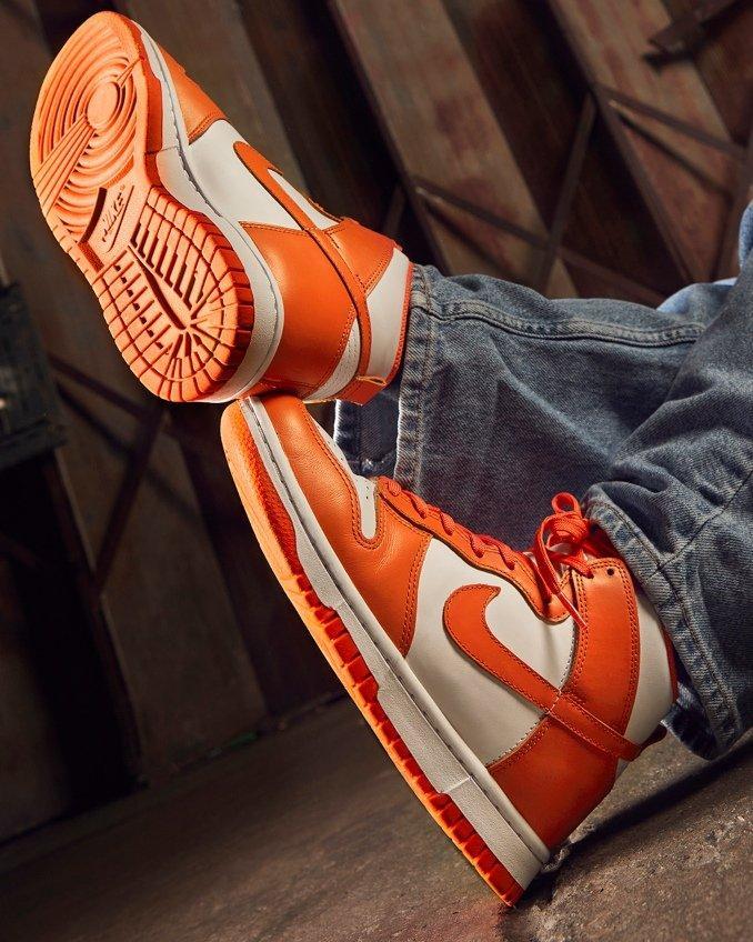 Nike Dunk High on feet