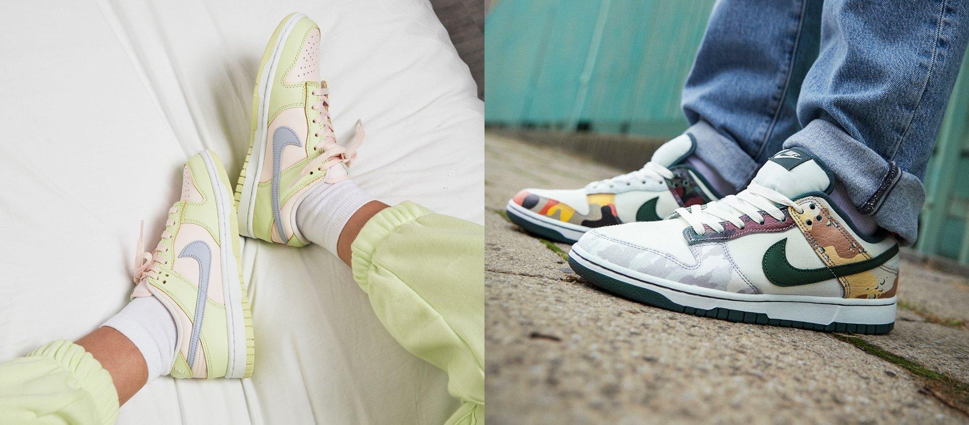 Nike Dunk Low Lime Ice & Sail Multi-Camo