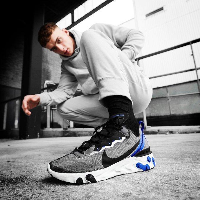 Nike React Element 55 on feet