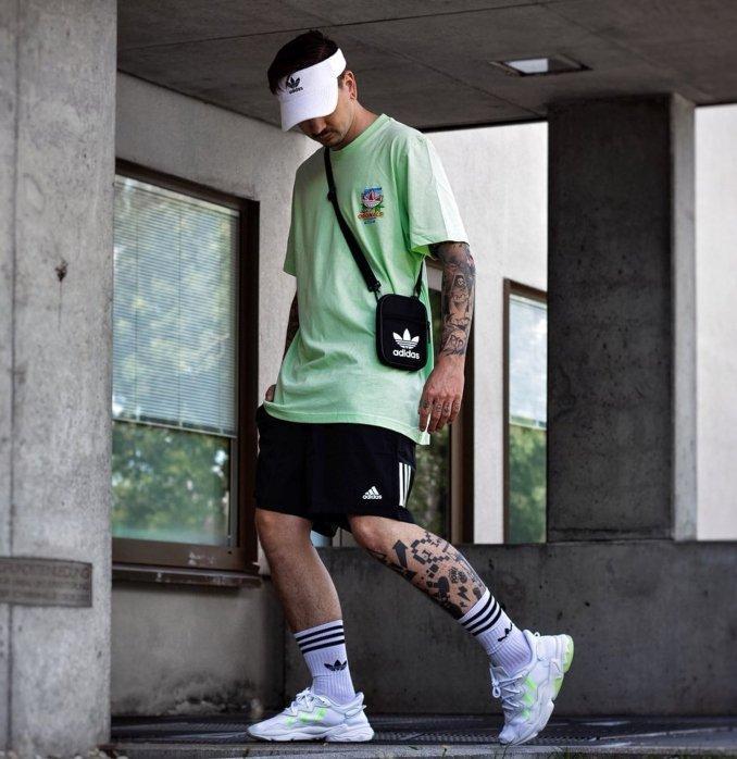 outfit homem ozweego beges