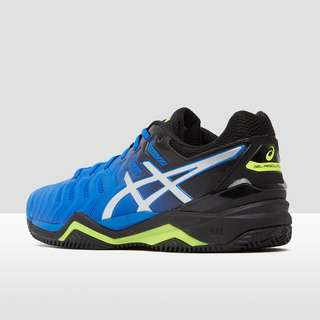 ASICS GEL-SOLUTION 7 CLAY TENNISSCHOENEN BLAUW/ZWART HEREN