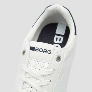 BJORN BORG T307 LOW SNEAKERS WIT/BLAUW HEREN