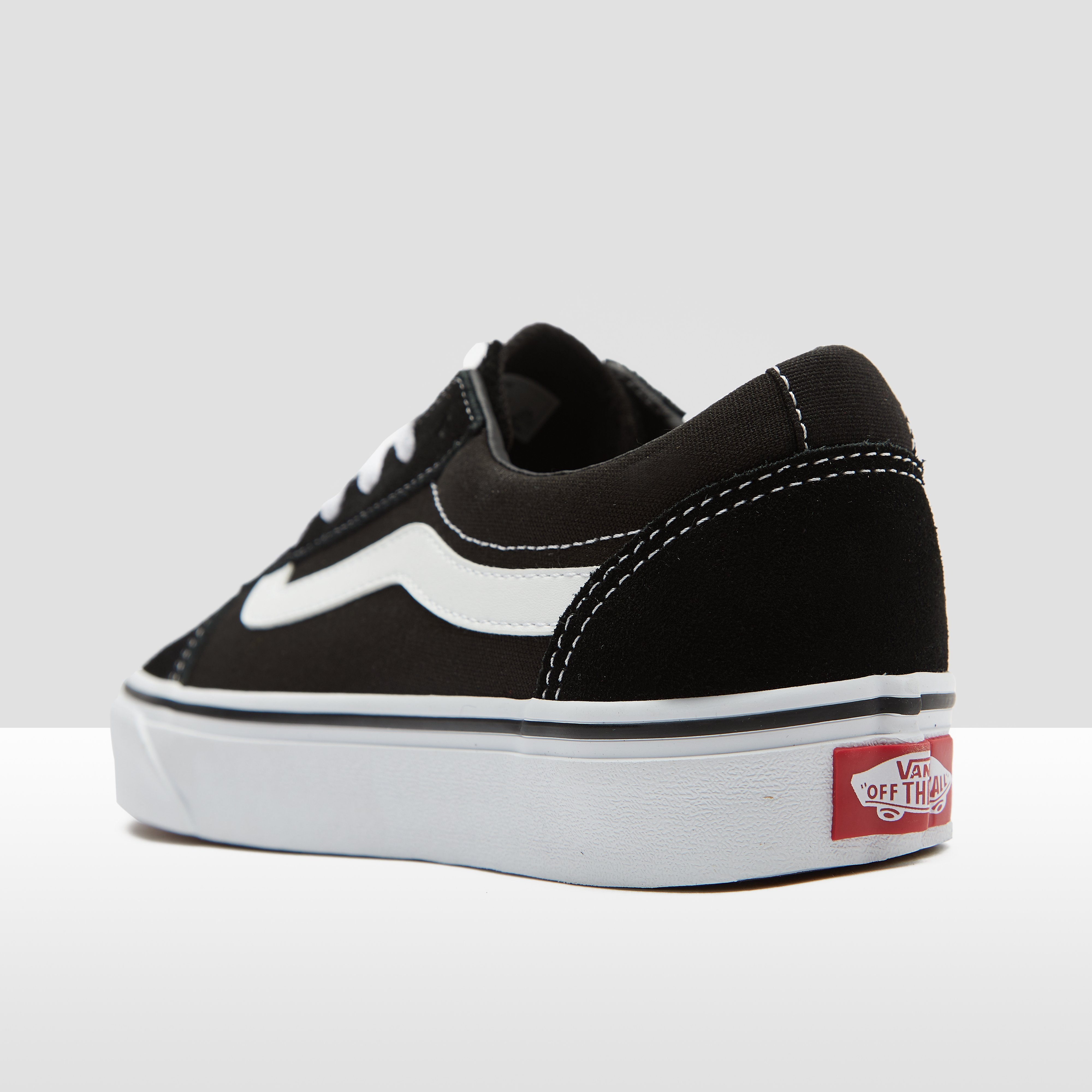 VANS WARD SNEAKERS ZWART/WIT DAMES