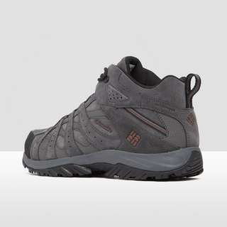 COLUMBIA CANYON POINT MID LEATHER WANDELSCHOENEN GRIJS HEREN