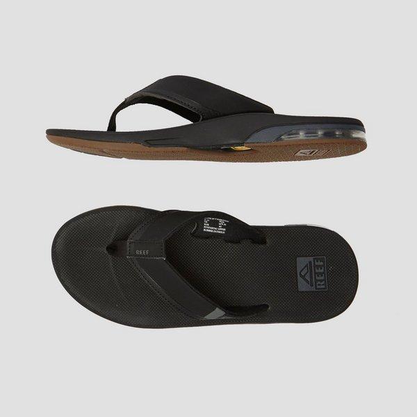 reef fanning 2.0 slippers zwart heren | perrysport
