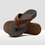 REEF LEATHER ORTHO-BOUNCE COAST SLIPPERS BRUIN HEREN