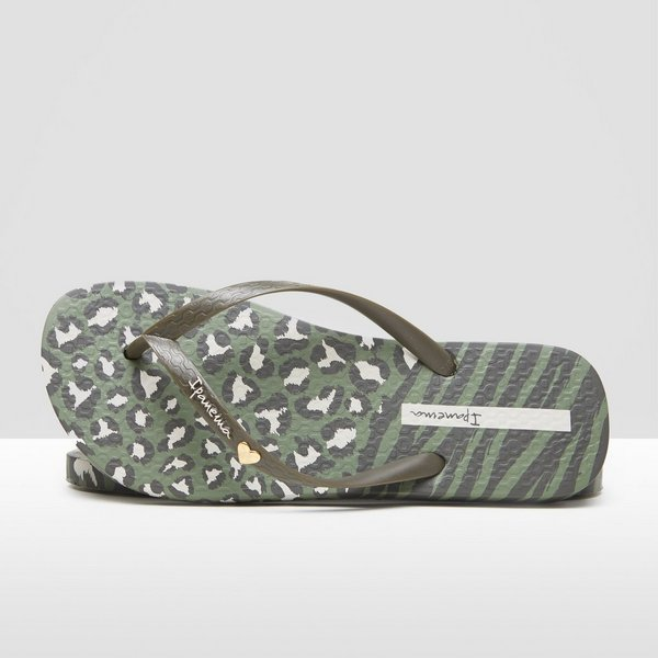 f345464a947 IPANEMA ANIMAL PRINT SLIPPERS GROEN DAMES | Perrysport