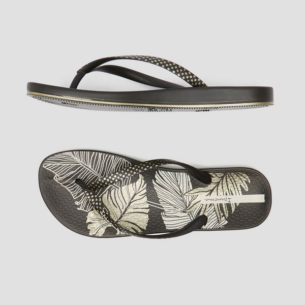 IPANEMA ANATOMIC NATURE SLIPPERS ZWART/GROEN DAMES