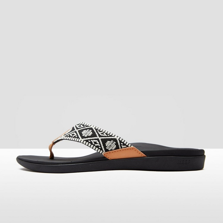 REEF ORTHO-BOUNCE WOVEN SLIPPERS ZWART/WIT DAMES