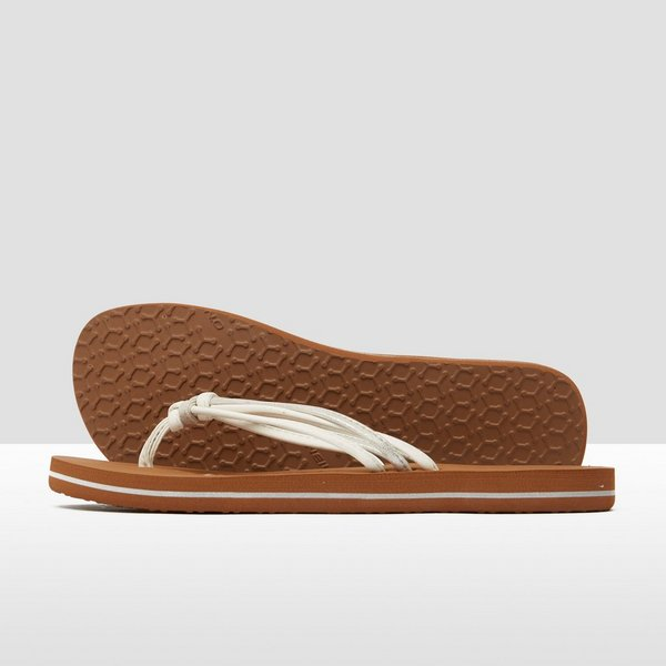 O'NEILL 3 STRAP DITSY SLIPPERS BRUIN/WIT DAMES
