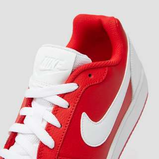 NIKE EBERNON LOW SNEAKERS ROOD/WIT HEREN