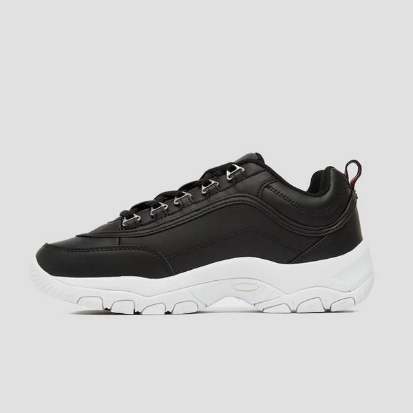 FILA STRADA LOW SNEAKERS ZWART/WIT DAMES