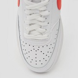 NIKE COURT VISION LOW SNEAKERS WIT/ROZE DAMES