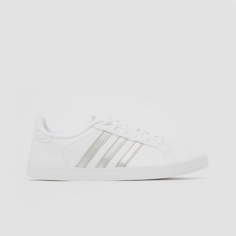ADIDAS COURTPOINT SNEAKERS WIT/ZILVER DAMES