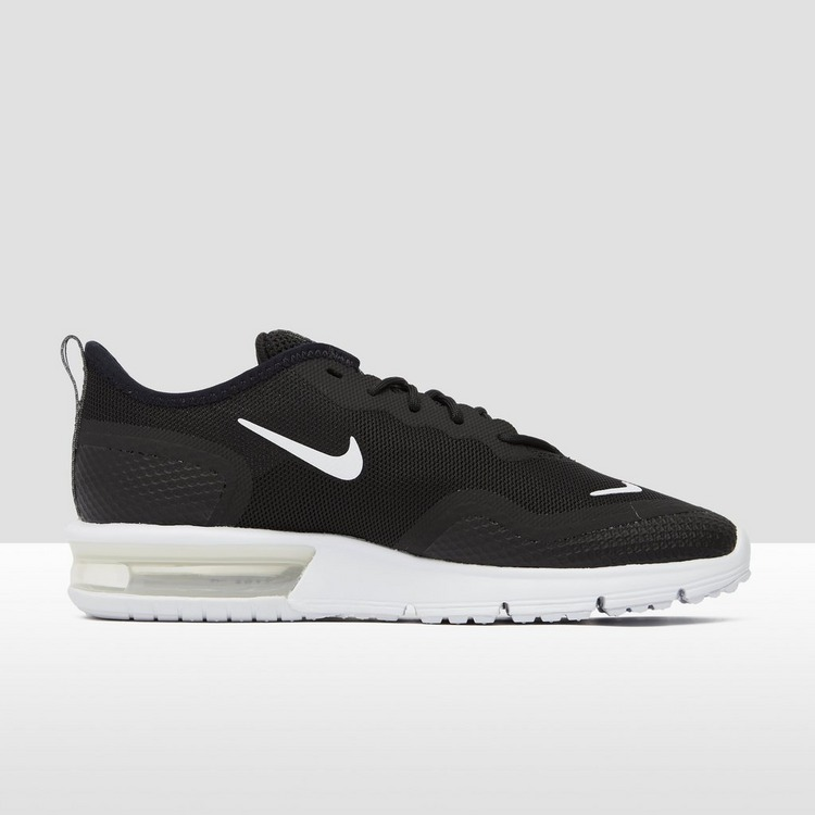 NIKE AIR MAX SEQUENT 4.5 SNEAKERS ZWART/WIT DAMES