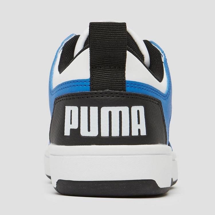 PUMA REBOUND LACE UP LOW SNEAKERS WIT/BLAUW KINDEREN