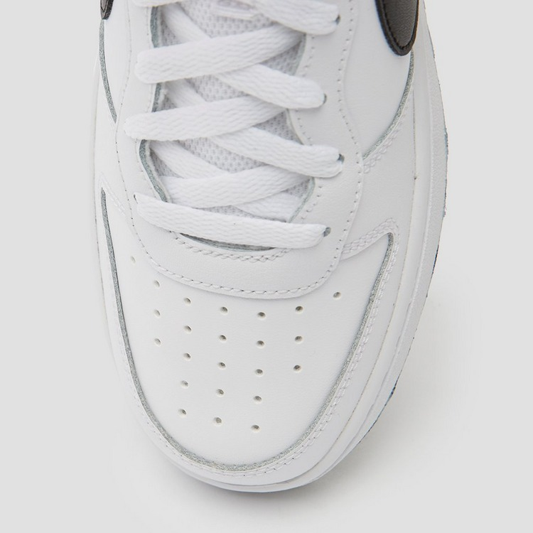 NIKE COURT BOROUGH LOW 2 SNEAKERS WIT/ZWART KINDEREN