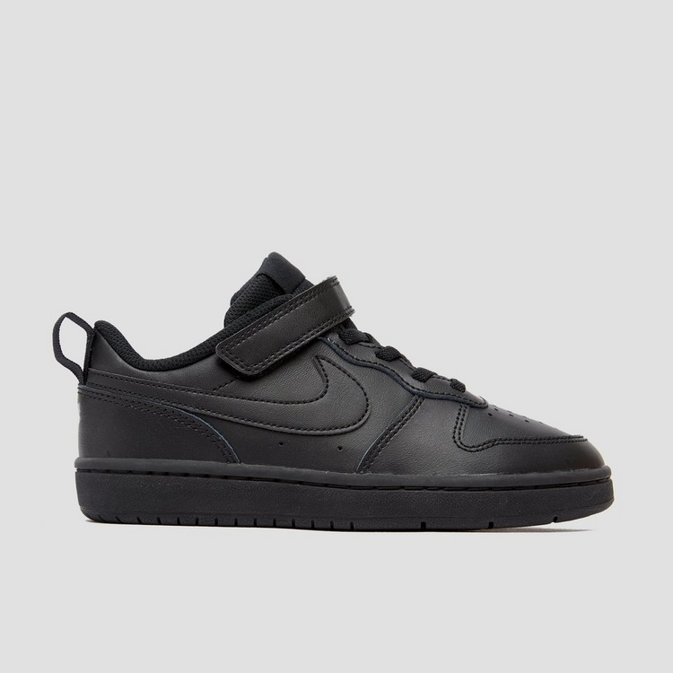 NIKE COURT BOROUGH LOW SNEAKERS ZWART KINDEREN